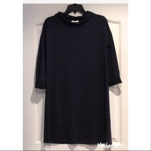 Boutique Navy Dress Short Style 3/4 length Sleeve